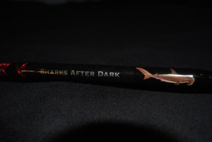 Sharks after dark, beautiful rod ready to get out and catch them                …