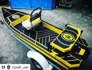 That's a cool little skiff!  . . . .  ・・・ Black n Yellow! Get yours! H:SKIFF……