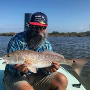 Corpus Christi redfish on fly