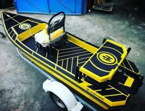 Black n Yellow! Get yours! H:SKIFF…The Ultimate Skiff!!                       …