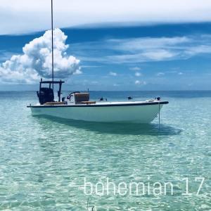 Beautiful Bonefish Bohemian 17 Skiff