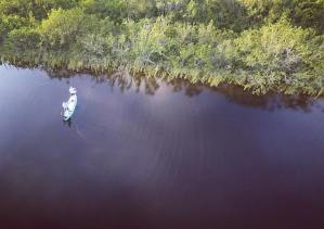 Did a little flyover spyover mission to check in on  fishing it up for Poonfecta…