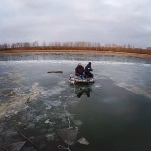 Using the  to break ice to get out fishing, it ain't over til it's over.        …