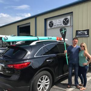 Off they go! New owners of 10'6″ Bote HD Gatorshell. Labor special going on now….