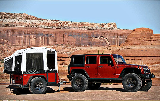 Bug Out Jeep With Trailer