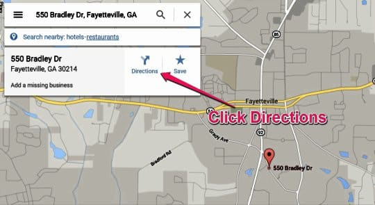 Google Maps Click Directions