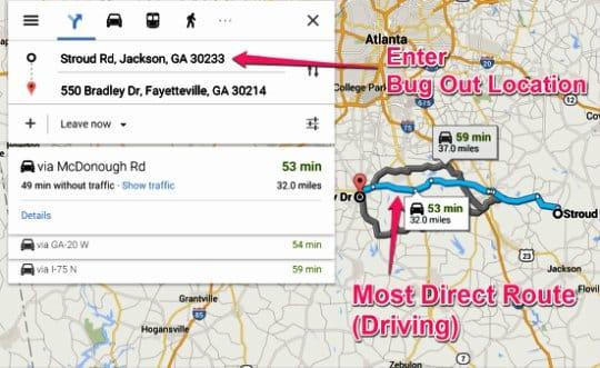 Google Maps Enter BOL