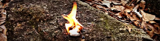 Fire Starting With Coated Cotton Ball