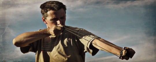 slingshot hunting stance