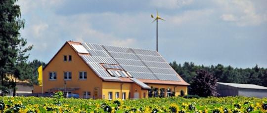 Solar Panels and Wind Turbine Homestead