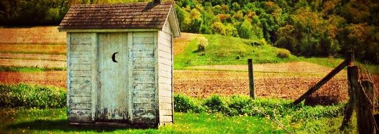 backyard outhouse