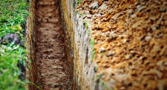 latrine trench