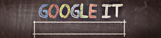 Google It Written On A Chalk Board