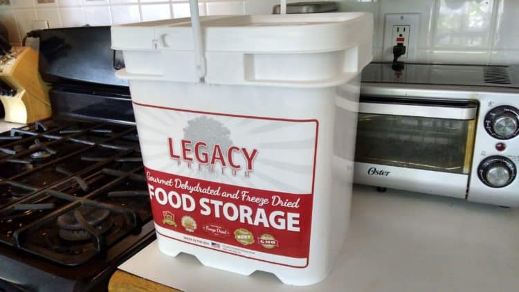 Legacy Emergency Food Storage Bucket