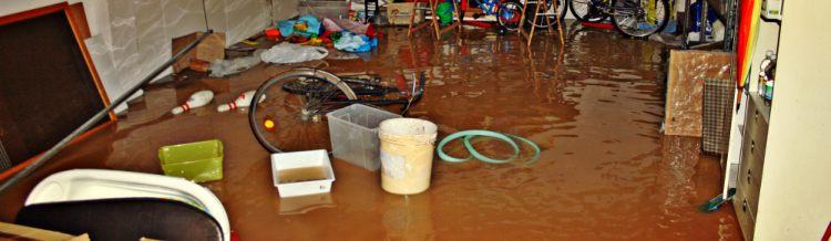 flooded garage