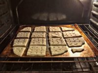 Hardtack Into The Oven