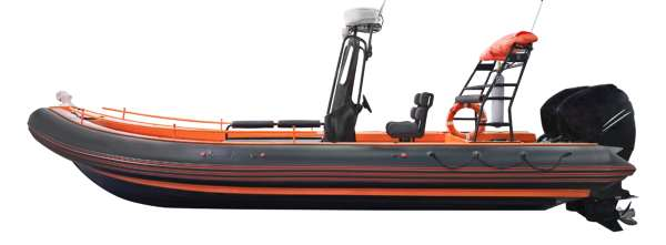 An Inflatable Boat For Fishing