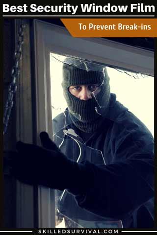 A Burglur Breaking Through A Window