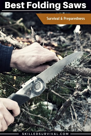 Folding Saw Cutting A Branch