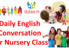 Daily English conversation for nursery class