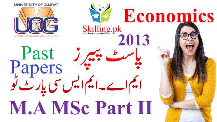 M.A MSc Economics Part II 2013