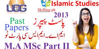 University of Gujrat Past Papers M.A MSc Islamic Studies Part II 2013