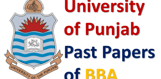 University of Punjab Past Papers of BBA