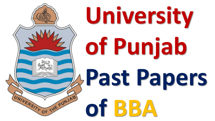 University of Punjab Past Papers of BBA - Skilling Foundation