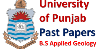 Punjab University Lahore Past Papers of B.S Applied Geology Download PDF