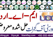University of Gujrat MA Part 2 Urdu Past Papers Solved Objectives