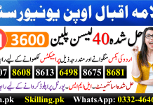 Allama Iqbal Open University AIOU Model Lesson Plans