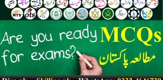 Pakistan Studies MCQs With Answers In Urdu PDF
