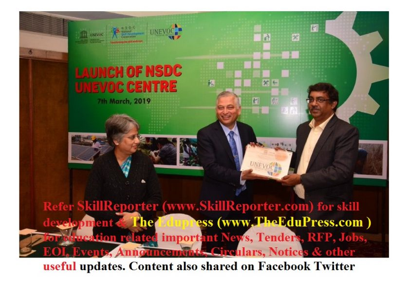 NSDC-UNEVOC Centre launched officially at New Delhi, India