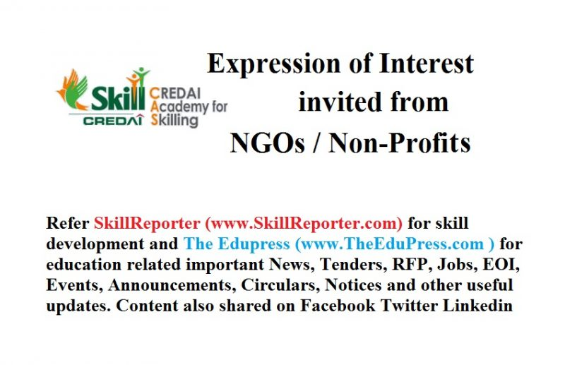 Expression of Interest invited from Non-Profits/ NGOs for