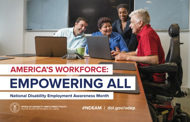 "NDEAM Poster: ""America's Workforce: Empowering All"""
