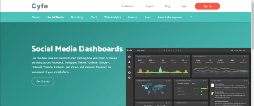 Cyfe Analytics tool