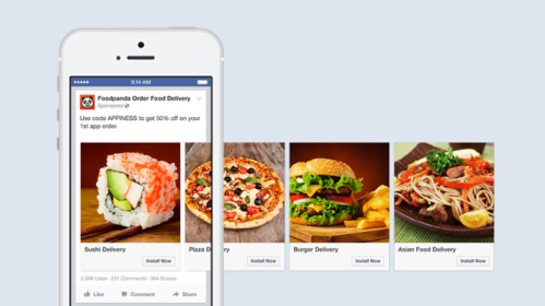 Foodpanda Facebook Carousel Ads