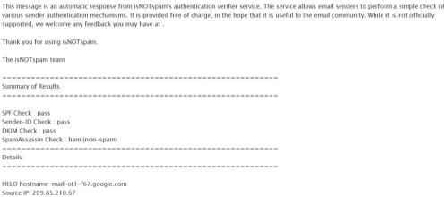 IsnotSPAM subject line tester