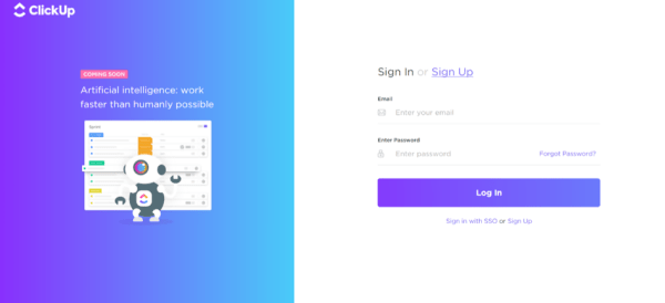 ClickUp Sales App for Project Management