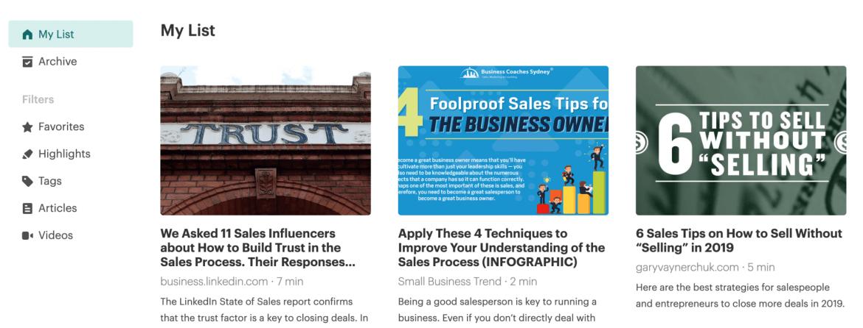 Pocket Sales App