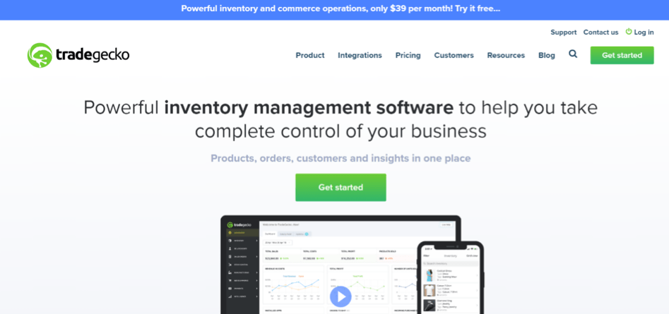TradeGecko ecommerce tools