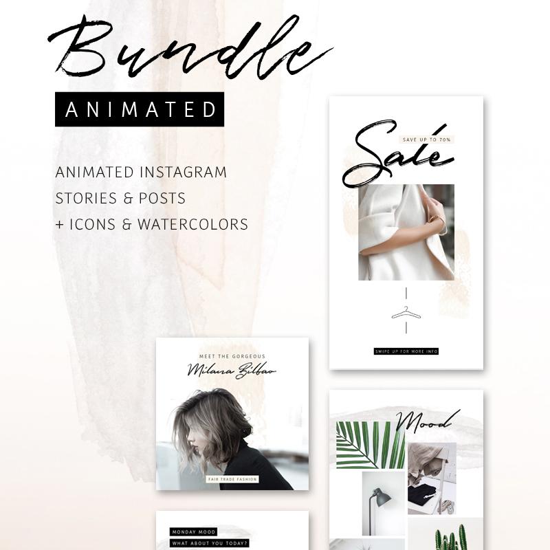BUNDLE: ANIMATED Instagram Stories & Posts So Female