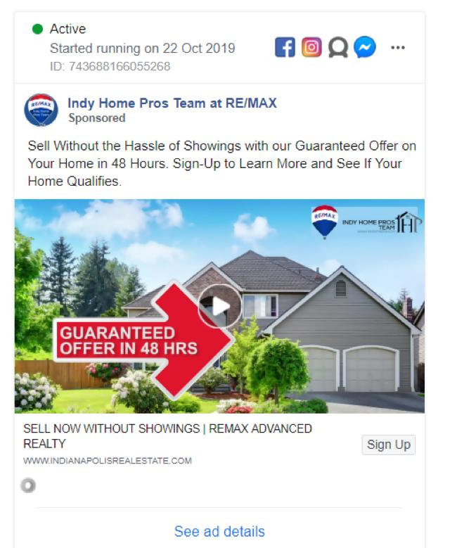 Indy Home Pros Team Facebook Real Estate Ads