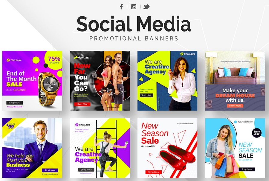 Social Media promotional banners