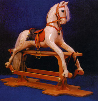 how to make a rocking horse saddle