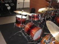 Drumles Jazz drumkit docent front