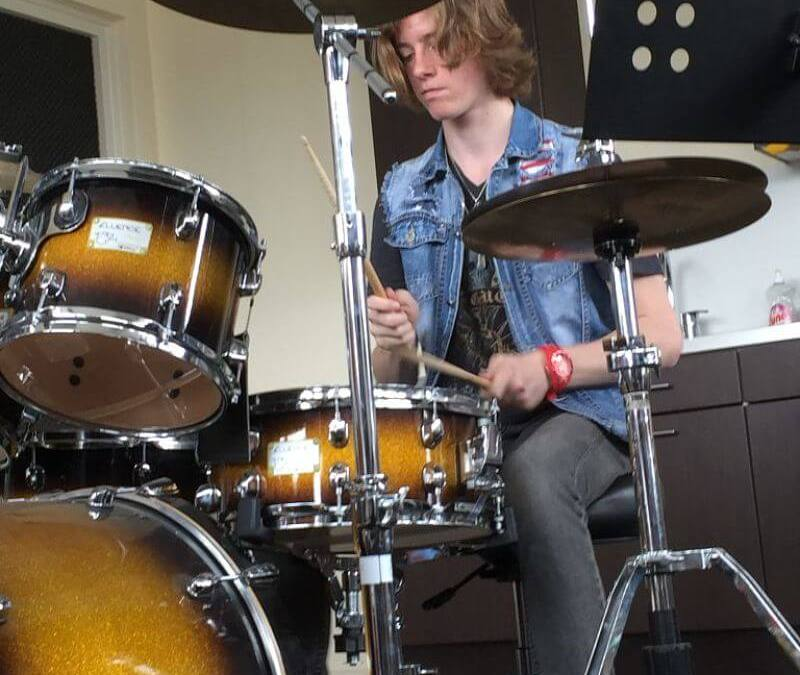 Jamsessie vanuit het perspectief van de drummer