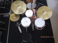 Drumles Jazz drumkit docent