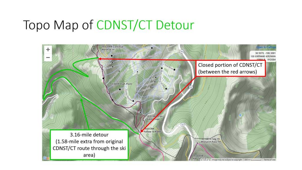 CDNST/CT Detour