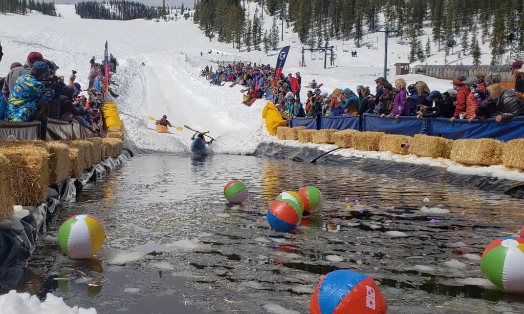 Kayaks on Snow